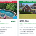 Homes with swimming pools in Acworth