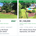 Homes with swimming pools in Alpharetta