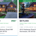Homes with swimming pools for sale in Kennesaw