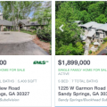 Homes with swimming pools for sale in Sandy Springs