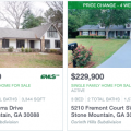 Homes with swimming pools for sale in Stone Mountain